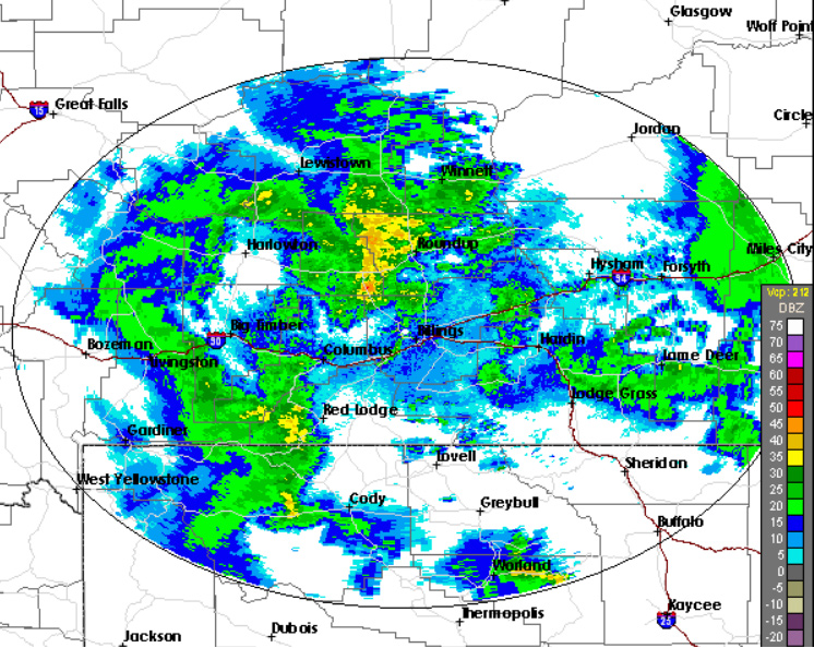 Doplar Radar - Lockwood, MT - 59102 - Click here for Current Weather Conditions and Images