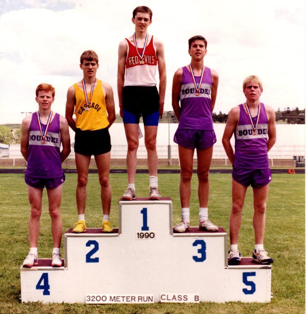 Chad McNiven - 1990 State Champion-3200 Meter Run, Class B-Montana High School Association - Huntley Project